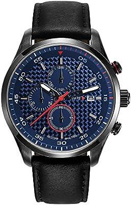 Esprit ES-TYLER BLACK - Reloj de cuarzo para hombres, color negro