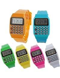 Lote de 24 Relojes Calculadora, Reloj Calculadora Niños - Divertidos Relojes niños y niñas.