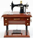 Jacki Design Sewing Machine Music Box,Music Boxes,Brown,EYL28005