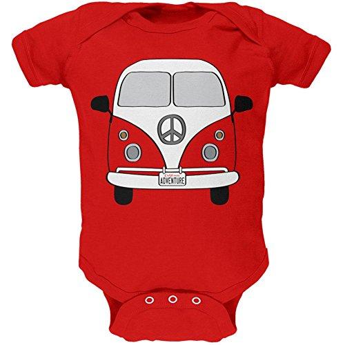 Old Glory Halloween Travel Bus Kostüm Camper Abenteuer Weiches Baby EIN Stück Rot 3-6 M