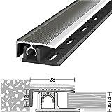 Abschlussprofil 8-14 mm Profi-Tec Master Edelstahl 100 cm