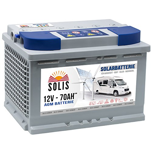 AGM Solarbatterie 70AH Boots Wohnmobil Solar Versorgungs Batterie Gel Marine Batterie