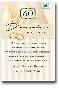 Glückwunschkarte Zur Diamantenen Hochzeit Alles Gute zu eurem 60 ...