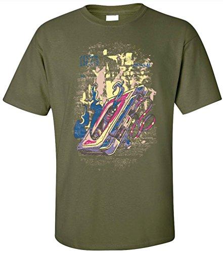 PAPAYANA - 1975-ORIGINAL - Herren T-Shirt - KULT CC MIX TAPE SOUND RECORD MICROPHONE Oliv