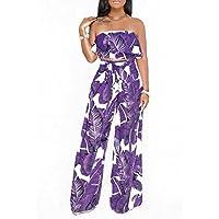 GAOWF Pantalones De Pierna Ancha Para Mujeres Conjunto De Dos Piezas Con Cofre + Pantalones,Purple,L