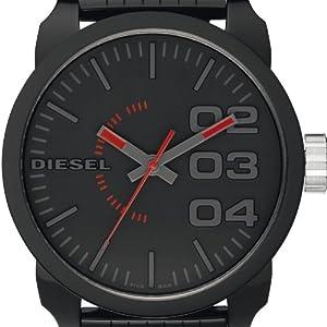 Diesel Franchise-P57 DZ1460 - Reloj analógico de cuarzo para hombre, correa de plástico color negro de Diesel