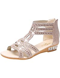 ca592806a4ebc Xinxinyu Sandales Chaussures Femme ❤ Mode Peep-Toe Ete Sandales Femmes  Tongs Plateforme Chaussures