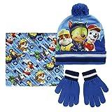 taglia unica Paw Patrol 2200001576/Chase//Rubble e Marshall set invernale per bambini include cappello//guanti e sciarpa