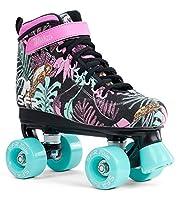 Ces magnifiques patins à roulettes pour enfants SFR Vision II sont parfaits pour les patineurs débutants/intermédiaires qui veulent se déplacer en un rien de temps. Conviennent pour les filles. Les patins à roulettes Vision motif fleuri de la marq...
