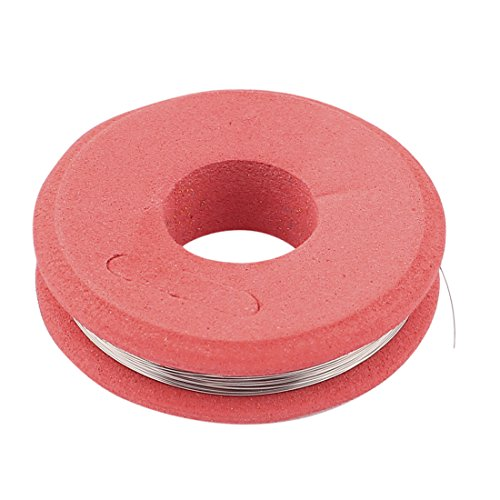 sourcingmap® Nichrom 80 runde Draht 0,15 mm AWG 35 Spur 49.21 ft Roll 61.68 Ohm/m Widerstand (Draht Zünder)
