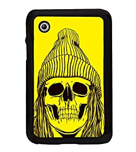 Skull with a Cap 2D Hard Polycarbonate Designer Back Case Cover for Samsung Galaxy Tab 2 :: Samsung Galaxy Tab 2 P3100