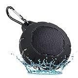 ALDD Wasserdichte Bluetooth-Lautsprecher, tragbarer Lautsprecher mit satteren Bässen, drahtlose Bluetooth 4.1-Lautsprecher mit USB- und AUX-Eingang, eingebautes Mikrofon für Camping, Strand, Sport und Y2