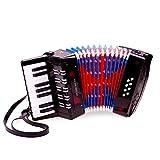 New Classic Toys - 2042841 - Instrument À Vent - Accordéon Grand Modèle En Noir