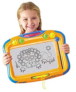 TOMY T6555 Megasketcher High Resolution Magnetic Drawing Board for Kids - Arts and Crafts Doodle and Scribble Board - Suitable from 3 years, Assorted color