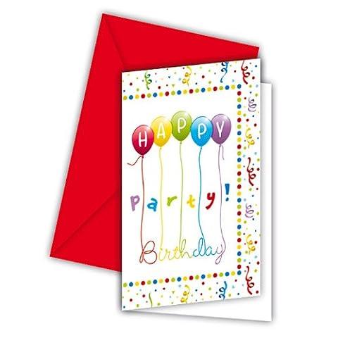 Carte D Invitation Anniversaire - Invitations Anniversaire avec enveloppes