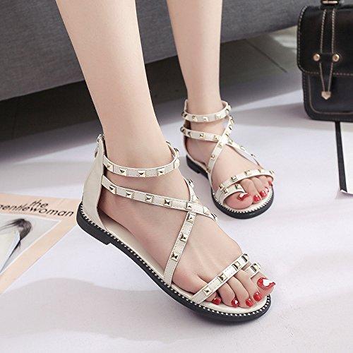 Sandales Simples Femmes De Mode, Sandales D'été, Chaussures De Sport, Taille D'une Femme Et Des Sandales., Sandales Lady, Dames Sandales Blanc
