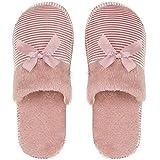 ILU Slipper for Women's Flip Flops Winter House Fur Slides Home Carpet Sandals