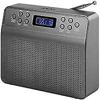 Akai A60013G Portable DAB Radio Alarm Clock with LCD Screen - Space Grey - ukpricecomparsion.eu