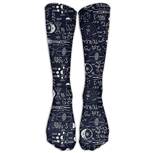 woiebntb3b3 Custom Leisure Women Girl Long Tube Stocking Physics Compression Soccer Splints,Nursing. Lightweight Sport Knee High Socks Sock 19.68 inch