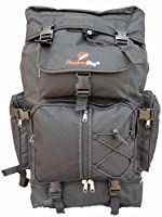 Large Camping Backpack Rucksack - 60 65 Litre Ltr Bag - Duke of Edinburgh DofE Suitable - Glastonbury Reading Festival Size Bags - Plain Black Backpacks - Hiking Rucksacks - Roamlite RL05K