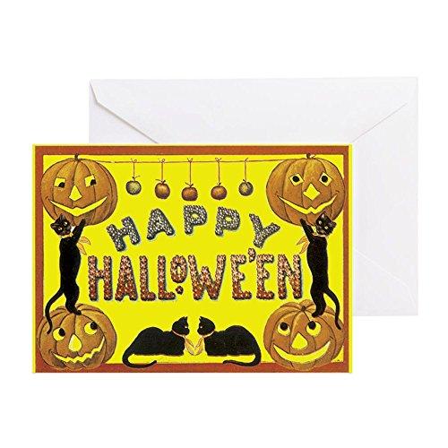 Halloween-Grußkarte, Note Karte, Geburtstagskarte, innen blanko, matt ()