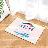 LYJZH Weiche rutschfeste Absorbierende Badezimmermatte Badematte Teppich Badteppich Fußmatte Farbnebeldruckmatte Bad Saugmatte Farbe3 40x60cm
