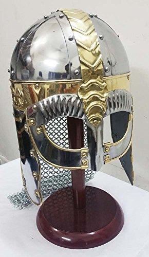 Wikinger Maskenhelm Mittelalterliche Rüstung Helm Replik -