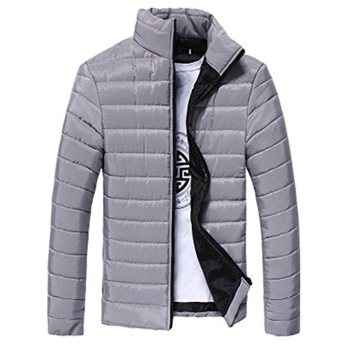 Cappotto da uomo inverno, beautytop piumino invernale autunno giubbotto giacchetta giacca manica lunga felpa uomo elegante caldo invernale cappotto outwear cappotti (grigio, m)