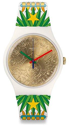 Swatch Orologio Digitale Quarzo da Donna con Cinturino in Silicone SUOZ210