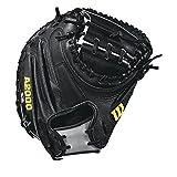 WILSON Herren 2018A2000M2SS Catcher Baseball mitt-Right Hand werfen, schwarz/grau, 85,1cm