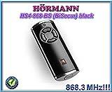 Hörmann HS4–868-BS schwarz Fernbedienung, 868,3MHz BiSecur 4-Kanal Transmitter. Top Qualität Original Hormann Fernbedienung für die besten Preis