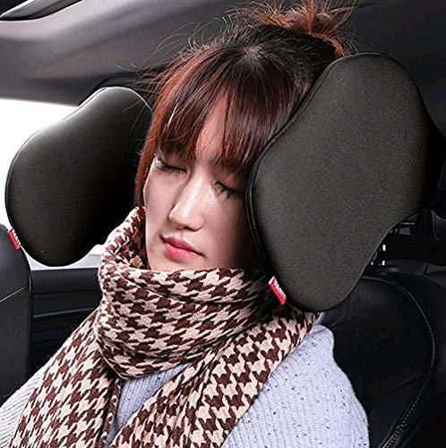 en Nackenstütze Komfortabel Unterstützung auf beiden Seiten Autositz Kopfstütze Nacken Kissen,Autokissen (one szie, Schwarz) ()