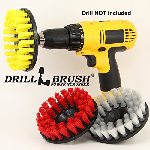Drill Brush Power Scrubber Fliesen und Fugen Bad, Boden 3 Cleaning Kit - Power Scrubber