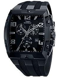 Reloj analógico cronógrafo y acero Sandoz 81315-99 color negro correa hombre caractere