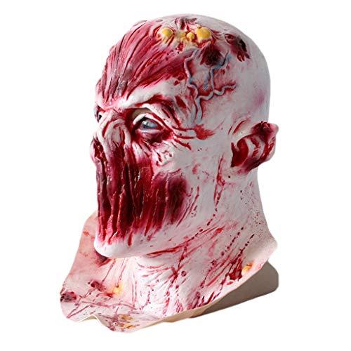 RENYAFEI Halloween Gruselige Maske Lebender Toter Zombie-Maske