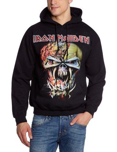 Collectors Mine Herren Sweatshirt Iron Maiden-Final Frontier, Gr. 52 (XL), Schwarz (Schwarz) (Maiden Hoodie Iron)