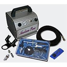 WilTec - Compresor de aerógrafo (incluye pistola y accesorios)