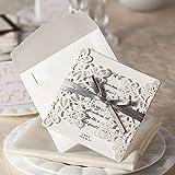 Cold Toy 10 Stücke Hochzeitseinladungskarten Kit mit Umschlägen Dichtungen Personalisierte Druck