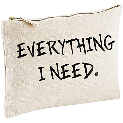 Everything I Need toile Naturel Maquillage Cosmétique Sac cadeau idée cadeau avec sac de toilette