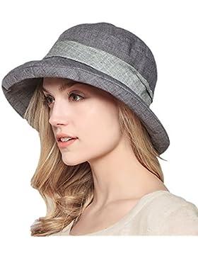Damen Sommer Strand Hat Eimer Hut Fedorahüte großer Rand-Anti-UV Sonnenhut Faltbarer Sonnenhut