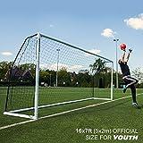 QUICKPLAY PRO Match-Fold Butée de football portable avec sac de transport [Objectif unique] Mise en place rapide du but de football pliable pour les clubs