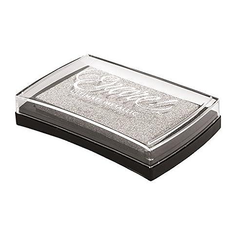 Rayher Hobby 29016606 Encore Pigment-Stempelkissen, Kunststoff, silber, 9,4 x 6,6 x 2 cm