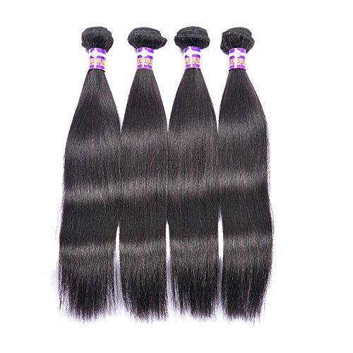 Vrais cheveux Rideau naturel Brésil vague droite Rideau cheveux soyeux cheveux humains longue ligne droite noire cheveux Rideau,26 inches