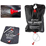 Vellex Portable Solar Camping Shower 5 Gallons