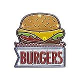 Balvi Décoration Murale Burger Lumières LED de Longue durée Fonction Tactile Adhésif Plastique PVC 31 cm