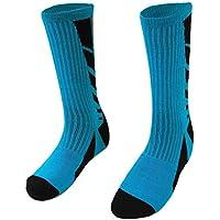 TOOGOO(R) High quality Professional sports men socks Elastic basketball football socks(blue)