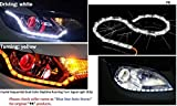 #4: Leebo Daytime Running White Light with Yellow Turn Signal Light 16 LED Crystal Sequential DRL One Pair For Hyundai Verna Fluidic