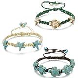 sailimue Geflochtenes Armband für Damen Mädchen String Armbänder Meetesschildkröte Seestern Armband Schmuck