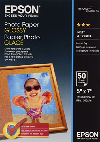 Epson Photo Paper Glossy - Papel fotográfico brillante, 127 x178 mm, 50 hojas