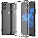 """OWM iPhone XS MAX Case, Crystal Clear Back XS MAX Case [6.5""""] ShockProof Protective Rugged Shell [Transparent] Hard Plastic Phone Cover Case for Apple iPhone XS MAX [2018]"""